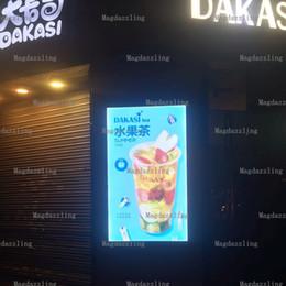 """Wholesale Advertising Lightbox - 27""""x40"""" Outdoor LED Aluminum Poster Frame Light Box,Illuminate Menu Boards,Lockable Edgelit Advertising Lightbox for Restaurant"""