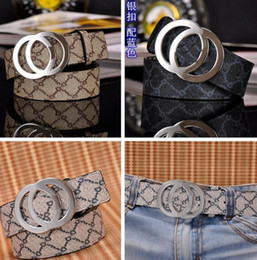 Wholesale Genuine Leather Women Belts - Cinto 2017 Famous Brand Genuine Leather Men Belt Designer Luxury High Quality G Smooth Buckle Mens Belts For Women Jeans Cow Strap Waistband