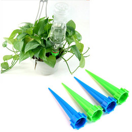 Wholesale Bottles Plastic Drip - 4 Pcs Lot Bottle Watering Automatic Drip Plant Flower Waterer Cone Spike Irrigation Kits - Plant Flower Water Control Drip