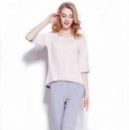 Wholesale Wholesale Pajama Sets Women - 2016 Brand Summer and Autumn Europe and Americal Women Pajama Women Cotton Three Quarter Sleeve comfortable Home Sleepwear Sets