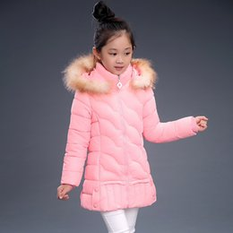 Wholesale Girl S Long Coat Down - 2016 New winter children's clothing kids down outerwear girls wadded jacket child medium-long thickening cotton-padded coat