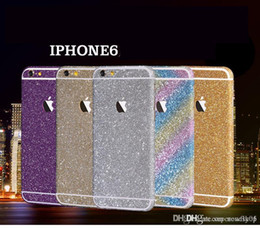 Wholesale Iphone 4s Side Protector - Glitter Powder Full Body Sticker For iPhone 4 4S 5 5S 6 Plus iPhone6 Samsung S7 Edge NOTE 5 J5 A7100 Front+ Back+ Sides Bling Skin Protector