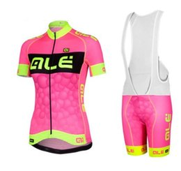 Wholesale Road Cycling Set Clothing - 2016 women's ALE team cycling jerseys road bike wear bicycle clothing ropa ciclismo mujer cycling set Wholesale retail racmmer
