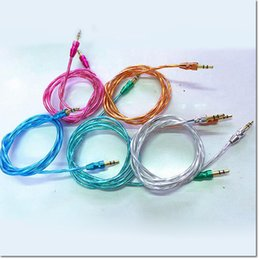Lüks 3.5mm 1M3FT TPU şeffaf AUX Ses Kablosu Kabakgil Yardımcı Kablo Jack Stereo Araba Uzatma erkek erkek ses veri kablosu supplier tpu cable nereden tpu kablosu tedarikçiler