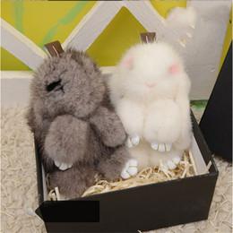 Wholesale Doll Import - 2016 New Import Mink Rabbit Key chain 3 Colors Fur Car Backpack Rabbit Doll Pendant Fashion Toys Wallet Handbag Pendant With Box