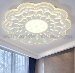 Wholesale Lamparas Techo Led - Minimalist Large LED Chandelier Light Fixture Modern White Ceiling for Living room Bedroom LED Lamparas de techo home decor Lighting MYY