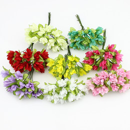 Shop cherry blossom artificial flowers wholesale uk cherry blossom 15cm fabirc artificial cherry blossoms flowers for wedding decoration silk flowers for wreath scrapbooking 144pcs lot mightylinksfo