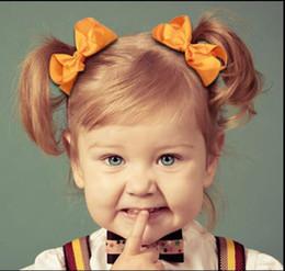 ¡15% de descuento! 196 colores 3 pulgadas bebé Sólido Grosgrain Cinta Arcos elásticos cintas para el cabello Cola de caballo Bobbles, accesorios hechos a mano Baby Girls 80pcs / desde fabricantes