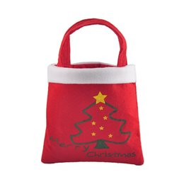 Wholesale High Christmas Tree - New Year High Quality Merry Christmas Tree Decoration Santa Claus Kids Candy Bag Home Party Decor Gift To Children 0708039