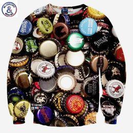 Wholesale Bottle Cap Man - Hip Hop New sweatshirts men women 3d hoodies funny print bottle caps hip hop casual 3d sweatshirts long sleeve tops pullover