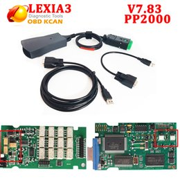 Wholesale Lexia Free Shipping - Newest Lexia3 PP2000 V7.83 with 921815C Firmware V48 V25 Lexia 3 diagbox 7.83 for Citroen for Peugeot Lexia-3 free ship