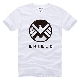 Wholesale Free Agent - Free Shipping Summer Fashion Agents Of SHIELD T Shirts Men T Shirt Short Sleeve Top Cotton Shield T-shirt Clothing SL-119