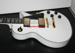 Wholesale Custom Alpine Guitar - Deluxe Alpine white ebony custom shop Electric Guitar Ebony fingerboard best guitar