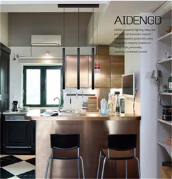Wholesale Counter Dining - Creative Pendant Lights Modern Kitchen Lamp Dining Room Bar Counter Shop Pipe Pendant Lights Kitchen Light Cylinder Aluminum black 3W
