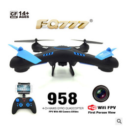 Wholesale High Wi - 2.4G in the four-axis aircraft with 300,000 wifi high-function remote control aircraft with camera model free shipping