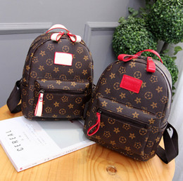 Wholesale Old Computers - 2017 new fashion ladies bag old flower shoulder bag mini simple package shoulder pattern PU print geometry Zipper Backpack - Free Shipping