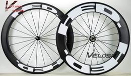 Wholesale Carbon Bike 88mm Wheelset - Outlet ! HED Full carbon bike wheelset, front 60mm,rear 88mm, clincher tubular ,700C road bike carbon wheel free shipping