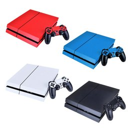 Wholesale White Ps4 Console - Protective Skin Film Sticker Cover For Sony PlayStation 4 PS4 Controller Console Black, White, Red, Blue Colors