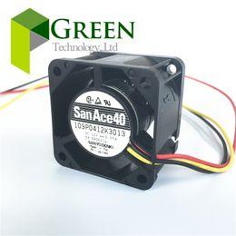 Wholesale Computer Wholesale Fans - NEW Original Sanyo San Ace 40 1U Server fan 109P0412K3013 4028 40MM server case Big power Cooling fan 12V 0.55A 3wire