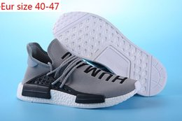 Wholesale Race Gifts - Cheap 2017 2001 Gift Shoes Sneakers NMD HumanRace Hot mens Running Shoes sneakers for men Couple Race shoes Human Race Size 36-47
