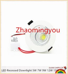Wholesale Patent Control - YON Patent product Dimmable LED Recessed Downlight 5W 7W 9W 12W 15W 18W COB Chip LED Ceiling Spot Light Lamp White  Warm white