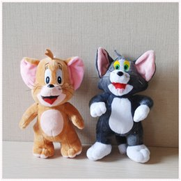 """Wholesale Education Toys For Kids - 2pcs Lot 9.8"""" 25cm Tom And Jerry Mouse Plush Stuffed Toys Dolls Boneca Pelucia Brinquedos Learning&Education For Kids"""