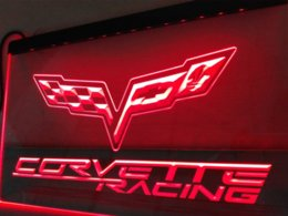 Wholesale Chevrolet Neon Signs - LG095- Chevrolet corvette LED Neon Light Sign hang sign home decor crafts light supplier