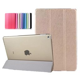 2019 apple ipad5 Applicabile a ipad5 / 6 cover protettiva air2 seta modello Siamese intelligente dormiente mini3 / 4 ultra-sottile custodia in pelle all'ingrosso PCC059 apple ipad5 economici