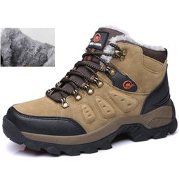 Wholesale Mens Mountain Boots - 2016 New mens outdoor shoes snow boots winter brand anti-skid mountain climbing breathable hiking casual
