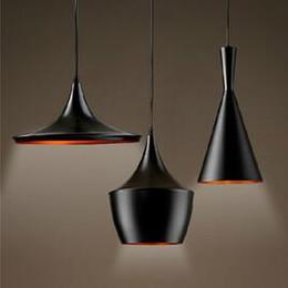 Wholesale Tom Dixon Beat Tall - Tom Dixon Beat Light Tall, Fat, Wide, (3 lamps) Black White Aluminum Pendant Lamp Chandelier