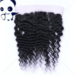 Wholesale Top Closure Pieces Human Hair - 7A Full Lace Frontal Closure 13x4 Deep Curly Wave Brazilian Human Hair Ear To Ear Top Lace Frontal Pieces Wholesale Price