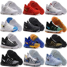 Wholesale Kevin Durant Low Tops - 2017 Top quality KD 10 X Correct Version Warriors Basketball Shoes for Kevin Durant 10s Airs Cushion KD10 Athletic Sports Sneakers US 7-12