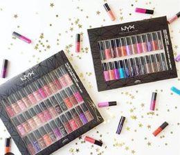 Wholesale Velvet Colors - 2017 NYX SOFT MATTE LIP CREAM nyx 36PCS Set Lipstick Lip Gloss Matte No Fading Sofe Velvet Lip Makeup 36 colors set