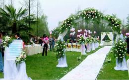 Corredor de la alfombra blanca de la boda online-White Wedding Carpet Runner 1.5 metros de ancho por 20 metros de longitud banquete de boda suministro de suministros banquete fiesta Pasillo blanco