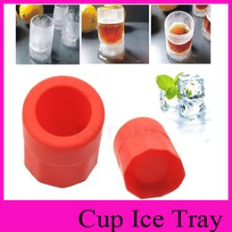 Wholesale Ice Tray Cup - Silicone Creative Single Cup Mold Ice Mold Cup Ice Tray Cool Shape Ice Cube Freeze Mold Ice Maker