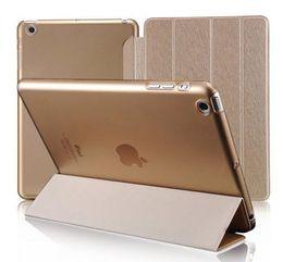 Wholesale Magnetic Pu Leather Case Ipad - Ultra Slim Magnetic Silk PU Leather Smart Cover Clear Matte back for iPad air 2 3 4 Mini 1 2 3 Retina 4