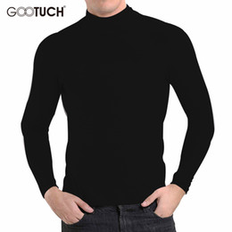 Wholesale Thermals Long Johns - Brand Plus Size Cotton Mens Thermal Underwear Winter Style High Collar Long Johns Long Sleeve Tops Undershirt 4XL 5XL 6XL G 2455