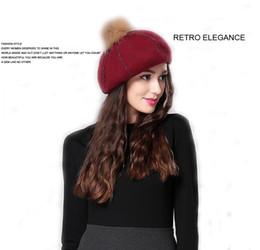 Wholesale Wool Painters Hat - Autumn beret Cap Painter Hat Art Woman Winter England Tide Sweet Cute Wild Casual Bud Hat