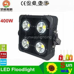 Wholesale Projects Light - Outdoor flooding Light LED Project Lights 400W Floodlights Super Bright Warehouse Gas Station Staduim Gymnasium Light AC95-305V+Meanwell