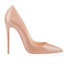 Wholesale Transparent Pointed Toe Heels - 2016 Difeina Fashion Young Ladies shoes Nude pink colors transparent shoes Shallow Mouth Pointed Stiletto Coat of paint party woman shoes