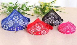 Wholesale Dog Bandana Collar L - Dog Collars Adjustable Pet Dog Cat Bandana Scarf Collar Neckerchief Brand New Mix Colors S M L XL