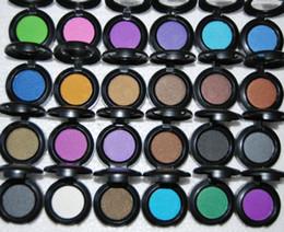 Wholesale Eyeshadow Singles - Free Shipping New MC Brand Makeup 1.5g single eyeshadow 24pcs lot ( Send mixed colors )