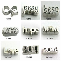 Wholesale Word Charms Floating Locket - Multiple options greeting words 100pcs lot floating charms floating charms for glass floating locket free shipping