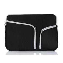 Wholesale Wholesale Handbags Briefcases - Slim Laptop Protective Case Zipper Bag Sleeve Pouch Handbag For Macbook Air Pro Retina 12 13 15 inch Storage Bag Travelling Bags Durable