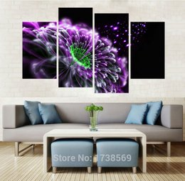 Wholesale Framed Art Ideas - Modern Home decoration wall decor art picture for living room ideas purple flower canvas Print oil painting on canvas no frame n209