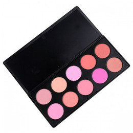 Wholesale White Powder Face - 10 Color SET Makeup Blush Face Blusher Powder Palette Cosmetics Maquiagem Professional Makeup Product free shipping