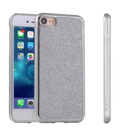 Wholesale Iphone Chrome Carbon Fiber Case - For Iphone 7 Iphone7 Plus Soft Chrome Skin TPU Gel Glitter Football Carbon fiber Back Phone cover case cases 1pcs