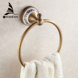 Wholesale Towel Ring Bathroom Accessories - High quality wall mount Towel Ring Towel Holder,Solid Brass Construction, Antique Bronze finish,Bathroom Accessories HJ-1808