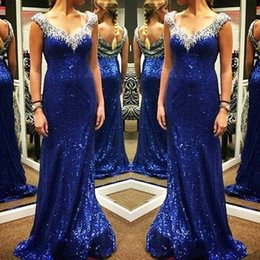 Wholesale Celebirty Dresses - 2016 Sexy backless celebirty dress Sheath column lace sequins crytal beading evening prom dresses for women