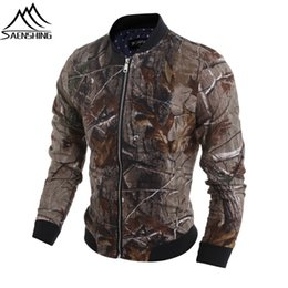 Wholesale Hunting Jackets Camouflage - Wholesale-2016 New Arrival Men Hunting Jackets Outdoor Camouflage Jacket Long Sleeve Stand Collar Coats Windproof Hunting Hiking Clothing